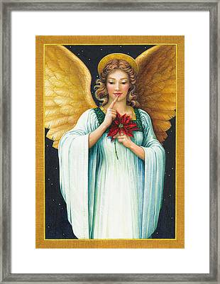 Christmas Angel Framed Print by Lynn Bywaters