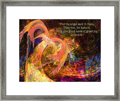 Christmas Angel Framed Print by Stephanie Grant
