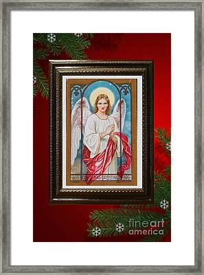 Christmas Angel Art Prints Or Cards Framed Print by Valerie Garner