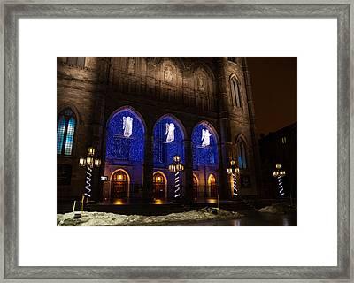 Christmas Angels - Notre-dame De Montreal Basilica Framed Print by Georgia Mizuleva