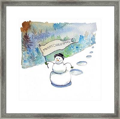 Christmas Announcement Framed Print by Katherine Miller