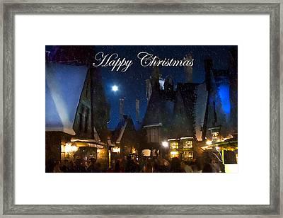 Christmas At Hogsmeade Framed Print by Mark Andrew Thomas