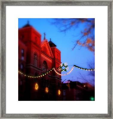 Framed Print featuring the photograph Christmas At Our Lady Of Mount Carmel  by Aurelio Zucco