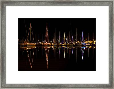 Christmas At Santa Cruz Harbor Framed Print