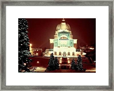Christmas At St. Joseph's Oratory Framed Print