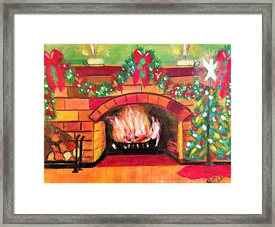 Christmas At The Cabin Framed Print