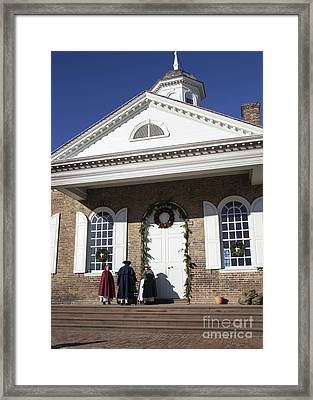 Christmas At The Courthouse Framed Print