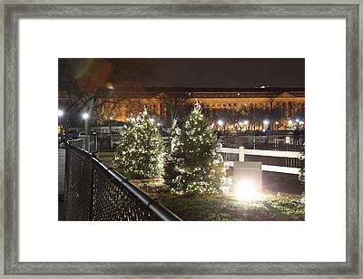 Christmas At The Ellipse - Washington Dc - 01131 Framed Print
