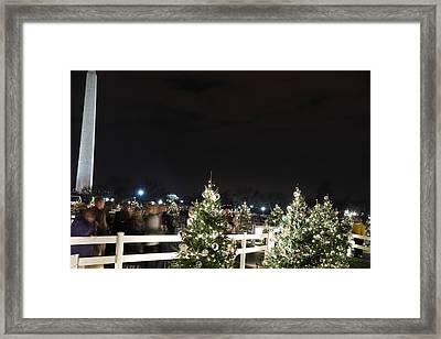 Christmas At The Ellipse - Washington Dc - 01135 Framed Print