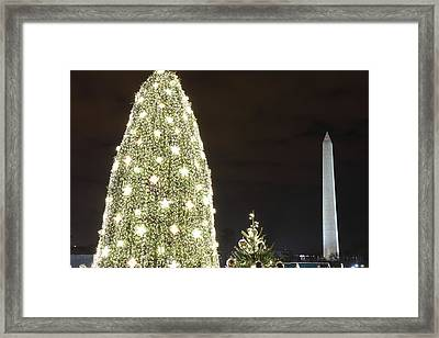 Christmas At The Ellipse - Washington Dc - 01137 Framed Print by DC Photographer