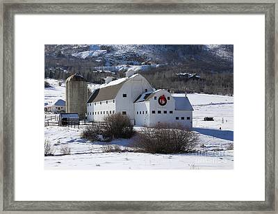 Christmas At The Farm Framed Print by Marty Fancy
