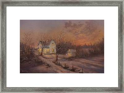 Christmas At The Farm Framed Print by Tom Shropshire