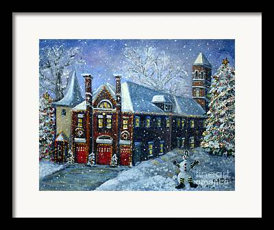 Waltham Firehouse Framed Prints