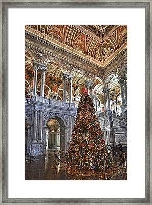 Christmas At The Library Of Congress Framed Print