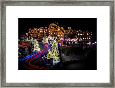 Christmas At The Montage Framed Print