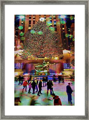 Framed Print featuring the photograph Christmas At The Rock by Chris Lord