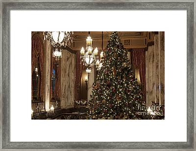 Christmas At The Theater Framed Print