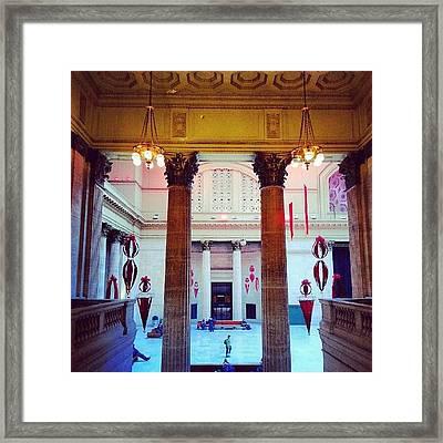 Christmas At Union Station Framed Print