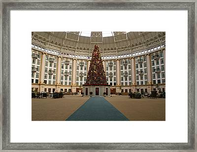 Christmas At West Baden Framed Print by Sandy Keeton