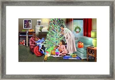 Christmas Back In Da Day Framed Print by Reggie Duffie