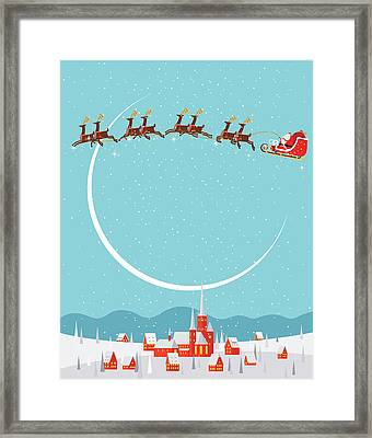 Christmas Background Framed Print by Akindo