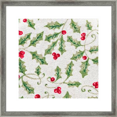 Christmas Background Framed Print by Tom Gowanlock