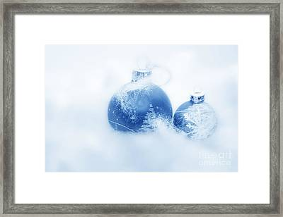 Christmas Balls Decoration Framed Print by Michal Bednarek