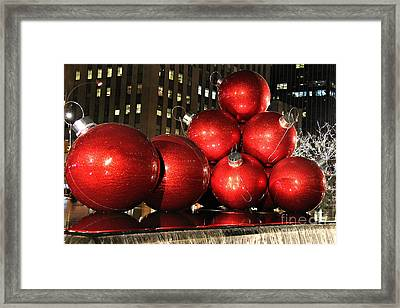 Christmas Balls Framed Print by Leslie Kirk