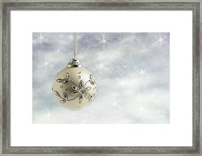 Christmas Bauble Framed Print by Amanda Elwell
