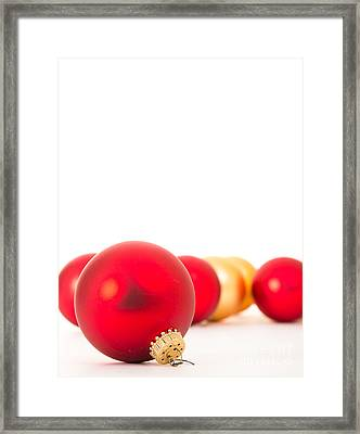 Christmas Baubles Framed Print by Edward Fielding