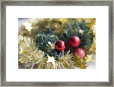 Framed Print featuring the photograph Christmas Baubles by Jocelyn Friis