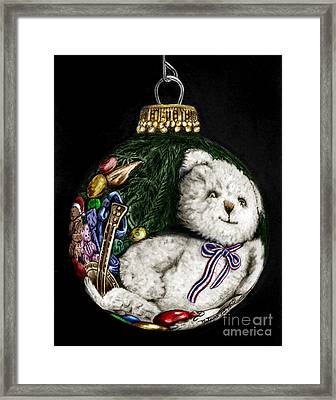 Christmas Bear Ornament Colored Framed Print