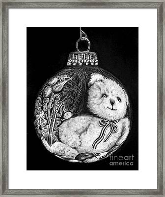 Christmas Bear Ornament   Framed Print