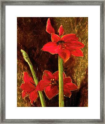 Framed Print featuring the painting Christmas Beauty by Vic  Mastis
