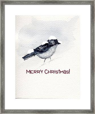 Framed Print featuring the painting Christmas Birds 02 by Anne Duke