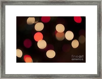 Christmas Bokeh Lights Framed Print by Juli Scalzi