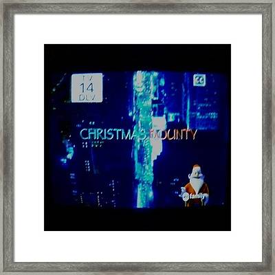 Christmas Bounty Is Here! :) #abc Framed Print