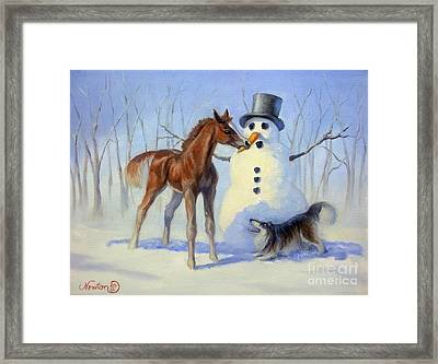 Christmas Bounty Framed Print by Jeanne Newton Schoborg