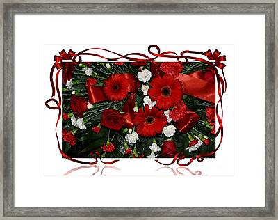 Christmas Bouquet  Framed Print by Kathleen Struckle