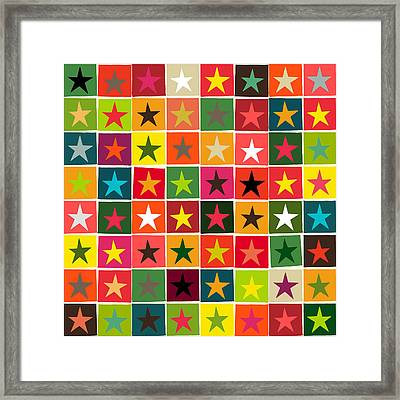 Christmas Boxed Stars Framed Print by Sharon Turner
