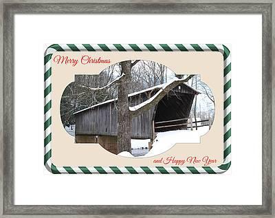 Christmas Bridge Framed Print by Eric Liller