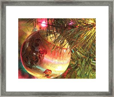 Christmas Brush Stokes 1 Framed Print by Carolina Liechtenstein