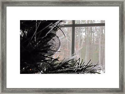 Christmas Bulb Framed Print