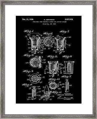 Christmas Bulb Socket Patent 1936 - Black Framed Print