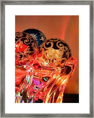 Christmas Bulbs Framed Print by Kristin Elmquist