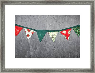 Christmas Bunting Framed Print