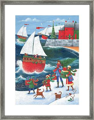 Christmas By The Sea Framed Print by Peter Adderley