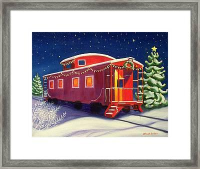Christmas Caboose Framed Print
