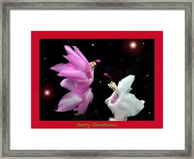 Christmas Cactus Fantasy Framed Print