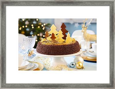Christmas Cake Framed Print by Doc Braham